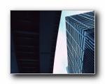 立体感现代建筑壁纸