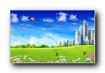 温馨家园 蓝天白云电脑设计壁纸
