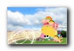 毕加猪爱与梦飞行 宽屏壁纸