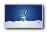 2009年12月月历圣诞壁纸 宽屏+普屏