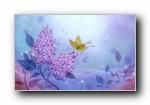 矢量艺术花纹花朵 宽屏壁纸