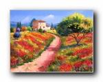 法国田园 手绘油画壁纸 1600x1200
