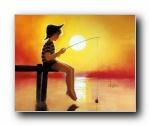 令人怀念的美好童年油画壁纸