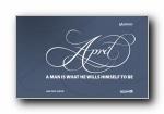 2010年4月月历原图宽屏壁纸