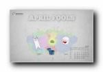 2010年4月月历宽屏壁纸