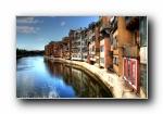 西班牙Girona HDR风格宽屏壁纸