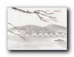 水墨中国风光艺术壁纸