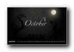 2010年10月(十月)月历壁纸 (宽屏版)