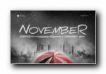 2010年11月月历(十一月月历)壁纸