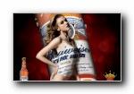 百威啤酒高清美女广告壁纸
