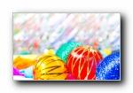 圣诞节彩球高清宽屏壁纸(第一集)