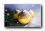 圣诞节彩球高清宽屏壁纸(第二集)