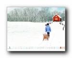 2011年1月一月月历壁纸(宽屏+普屏)
