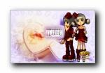 2011年新年QQ音速可爱卡通游戏月历壁纸