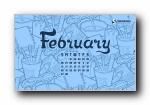 2011年2月(二月)月历壁纸