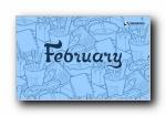 2011年2月月历原图宽屏壁纸