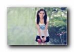 阳光青春活力美女摄影宽屏壁纸