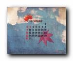 2011年10月(十月)月历壁纸 (CYWORLD版)