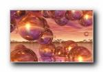 《抽象艺术:明亮》Windows 7官方主题艺术设计宽屏壁纸
