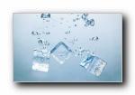 冰冰凉:冰和水高清摄影宽屏壁纸
