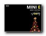 MINI E圣诞黑色壁纸