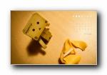 2012年小盒子可爱月历年历宽屏壁纸