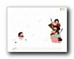 2012年4月(四月)月历壁纸 腾讯篇 (宽屏+普屏)
