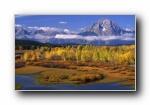 山水如画:湖库风光风景宽屏壁纸