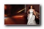 伊琳娜 Shayk 2013年婚纱宽屏壁纸