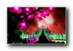 2013哈尔滨冰雪大世界夜景风光风景宽屏壁纸