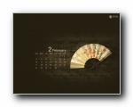 2013年2月(二月)月历壁纸 腾讯篇 (宽屏+普屏)