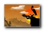 中国风:重阳节手绘宽屏壁纸