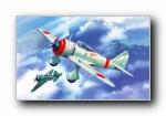 手绘战斗机艺术设计高清宽屏壁纸