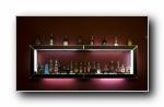 豪华酒吧吧台家居家具宽屏壁纸