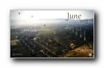 2013年6月(六月)宽屏月历壁纸