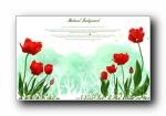 韩国浪漫简约花卉信纸背景宽屏壁纸