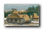 手绘军事坦克宽屏壁纸