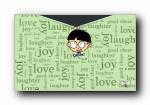 小明可爱卡通男孩宽屏壁纸
