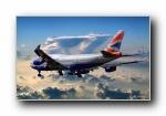 波音747飞机宽屏壁纸