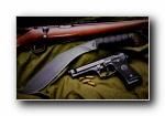 伯莱塔M9手枪宽屏壁纸