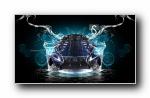 疯狂设计:《水》世界名牌汽车梦幻设计宽屏壁纸