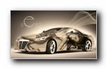 疯狂设计:《绿》世界名牌汽车梦幻设计宽屏壁纸