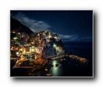 马纳罗拉 Manarola 海旁夜景(多分辨率)