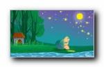 画儿晴天 童趣手绘可爱卡通宽屏壁纸