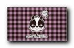 可爱卡通熊猫背景 (多分辨率)
