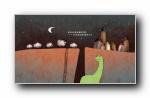 《我所有的朋友都死了》手绘恐龙宽屏壁纸
