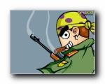 候补(HOBO)可爱卡通男孩壁纸