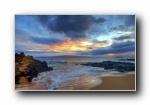 金色海岸 日出日落黄昏夕阳风光风景宽屏壁纸