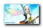 音乐吉他动漫女孩宽屏壁纸
