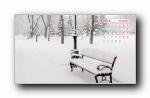 2014年1月雪景风景月历壁纸(宽屏++普屏)